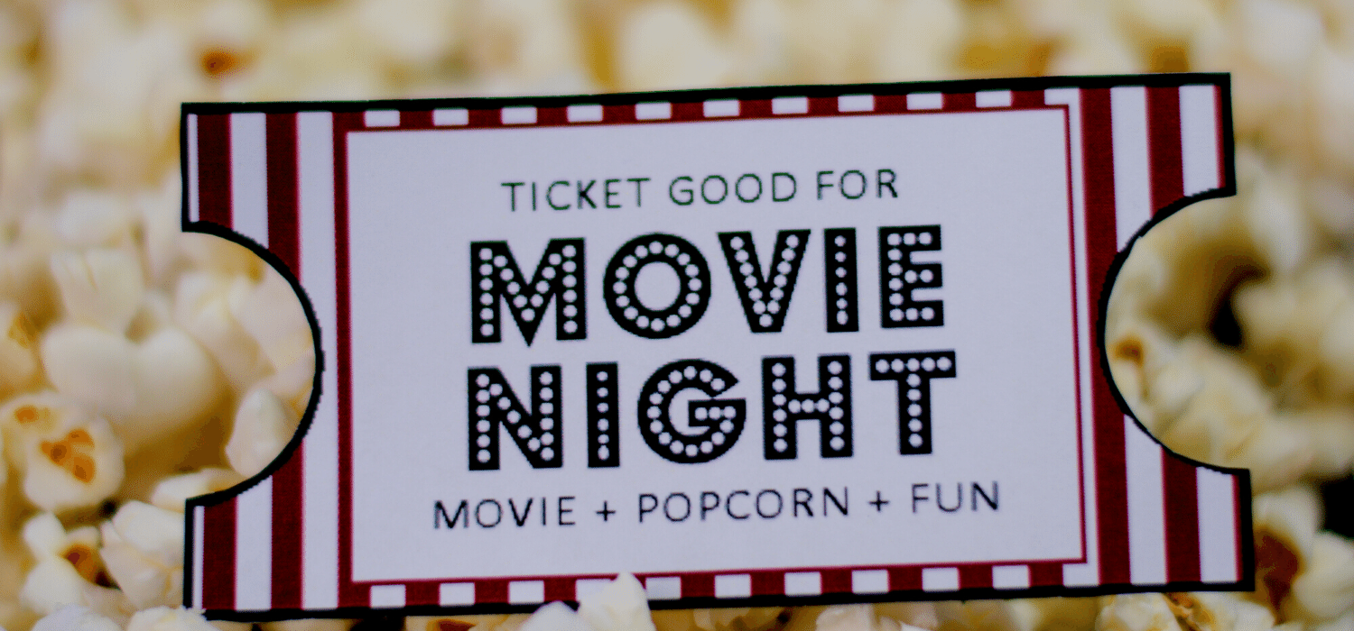 Ticket For Family Movie Night