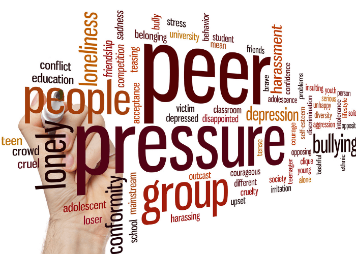 Peer Pressure Group Text Graphic